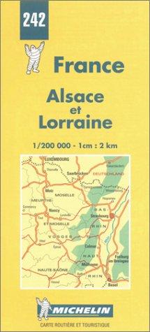 Preisvergleich Produktbild Michelin Karten, Bl.242 : Alsace et Lorraine (1/200 000 - 1 cm:2 km)