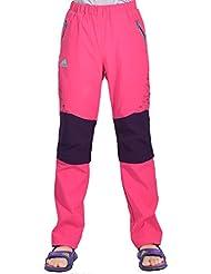 emansmoer Enfants Zip Off Pantalon Filles Garçons Respirant Quick Dry Outdoor Sport Pantalon Marche Camping Randonnée