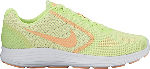 Nike Wmns Revolution 3, Chaussures de Course Femme Multicolore (Ghost Green/sunset Glow-white-white)