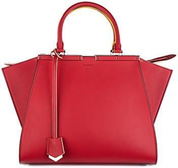 Fendi bolso de mano para compras en piel mujer nuevo 3jours rojo