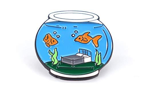 Naehgedoens.de Pin Aquarium | Fischglas | Türkis Grün Orange