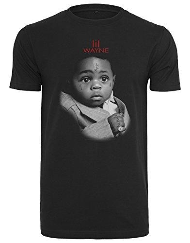MERCHCODE Merch Código Hombre Lil Wayne Child tee–Camiseta, Black, XXL
