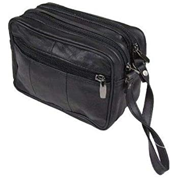 Travel Taxi Driver Money Bag Black Leather Belt Pouch