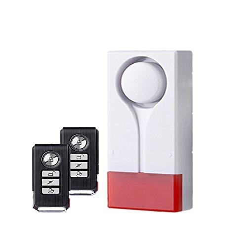 Mengshen Alarma de Alarma de Alarma de luz inalámbrica de Alarma magnética para Ventana de Puerta - 2 Control Remoto y 1 Alarma M701