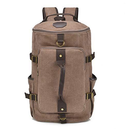WMYQQLX Rucksack Canvas Reiserucksack Herren Große Kapazität Gepäcktasche Pack Vintage School Bagpack Für Männer Tasche Rucksack Multifunktions, Braun 2135 Usb