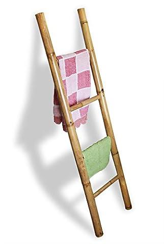 LioLiving®, Handtuchhalter / Dekoleiter aus Bambus (natur) - (150 x