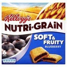 Nutri-grain Cereal Bars (Kellogg's Nutri Grain Soft & Fruity Blueberry 6 x 37G)