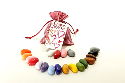 Crayon Rocks Valentine Gift in Red Bag