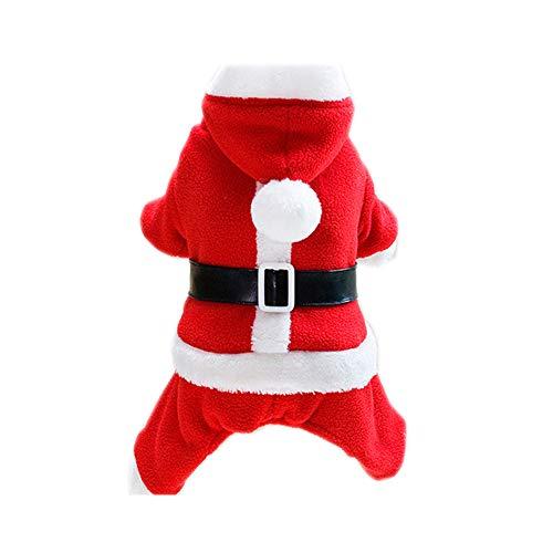 Kostüm Weihnachts Frauen Niedlichen - XGPT Hunde Kostüm Hund Kleidung Cartoon Red Cotton Kostüm Für Haustiere Männer Frauen Niedlichen Cosplay Weihnachten,A,XXL