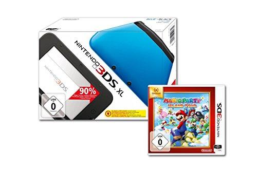 Nintendo 3DS XL - Konsole, blau/schwarz + Mario Party: Island Tours - Nintendo Selects (3ds Xl Mit Mario Party)