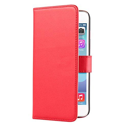 deinPhone Apple iPhone 6Plus (5.5) Custodia Bumper Case scomparto per tessere rosso