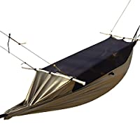 FREE SOLDIER Outdoor Camping Hammock with Mosquito Net 0ne Person Portable High Strength Hammock for Hiking Backpacking Garden Travel (252cm * 90cm 17
