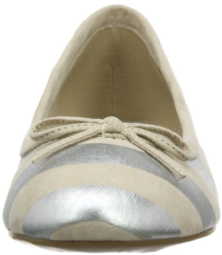 Tamaris TREND 1-1-22102-22 Damen Ballerinas Mehrfarbig (IVORY COMB 401)