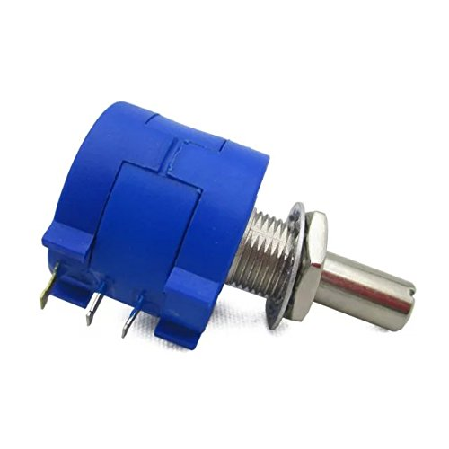 Goliton 3590S 5K ohm Präzision Multiturn Potentiometer 10-fach verstellbarer Widerstand - Blau (Widerstand Verstellbarer)