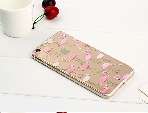 iPhone 7 Case (4.7), Bonice iPhone 7 Custodia,TPU Trasparente Ultra Slim Thin Morbido Crystal Clear Cover + 1x Protezione Schermo Screen – Rosa Model 5