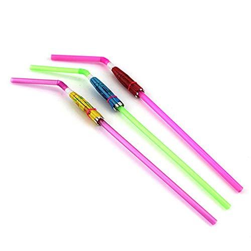 Fangfeen 5 * 24 centimetri 20pcs ombrello colorato monouso pieghevole cannucce (colore casuale)