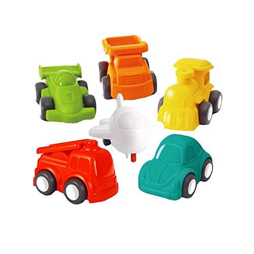 Fahrzeuge Spielzeug Set Mini Autos Zurückschieben Spielzeug Auto für Jungen Mädchen Trägheit Auto Fallschutz Spielzeug für Kinder Kinder Kleinkinder 3 4 5 6 Jahre alt (6 Stücke)