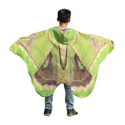 Overdose Kind Kinder Jungen Mädchen Faschingskostüme Karneval Kostüm schmetterlingsflügel Kostüm Butterfly Wing Cape Kimono Flügel Schal Cape Tuch Pashmina Kostüm Zubehör (Kimono Butterfly)