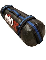 MADX poder tela/arena Bolsa de boxeo Crossfit MMA, Boxeo, Entrenamiento Fitness negro/azul