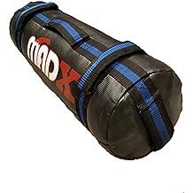 MADX - Saco de arena para entrenamiento, de 0 a 30 kg, negro y azul, Unfilled