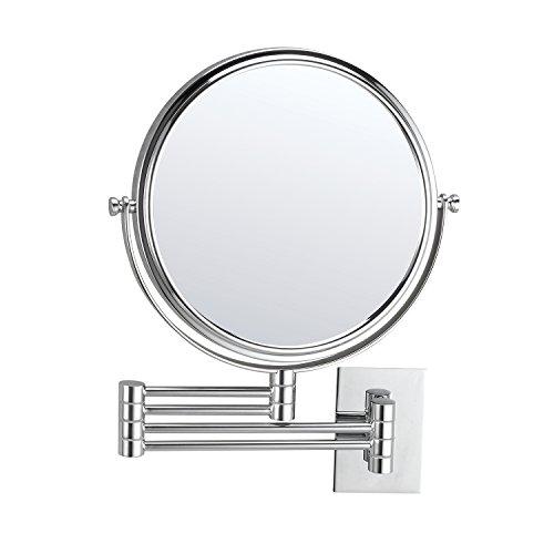 MIRKO 10x aumentos 8Inch Extensible Cuarto de baño Soporte de Pared Giratorio de Doble Cara Maquillaje...
