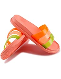 Zapatillas de casa de baño EVA para mujer Sandalias suaves ocasionales Sandalias de confort cómodas Ultraligero antideslizante , C , 37