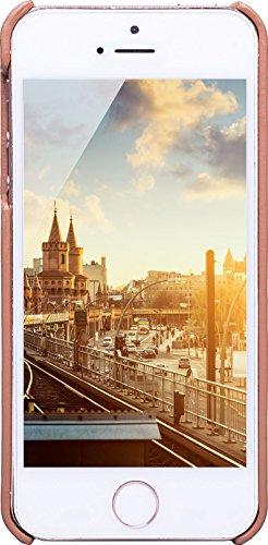 JT Berlin LederCover Kreuzberg für Apple iPhone SE(cognac) [Echtleder   Handarbeit   Passgenau] - 10257 LederCover Kreuzberg - cognac