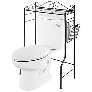 vanra organiseur de salle de bain en m tal rack de rangement sur pieds pour salle de bain. Black Bedroom Furniture Sets. Home Design Ideas