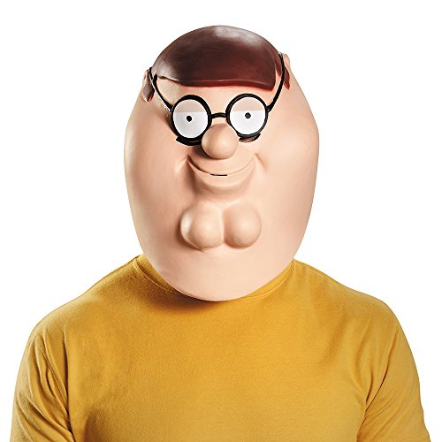 Family Guy Peter Deluxe Costume Mask Adult One Size (Family Guy Kostüm)