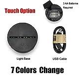 WZYMNYD Animal Fat Rhinocéros 3D Lampe LED USB Humeur Veilleuse Multicolore Tactile o Luminaria À Distance Table à langer Bureau Gadget Props