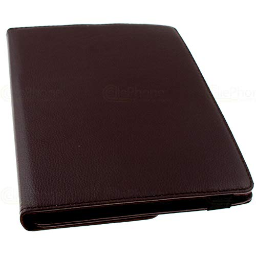 cellePhone Universal Rotation Bookstyle Tasche + Halteklammer für Tablet - Notebook bis zu 10 Zoll - Braun