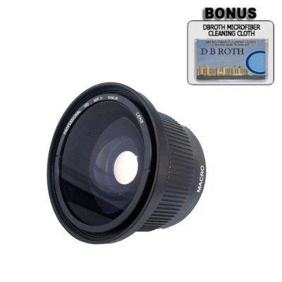 .42x HD Super Weitwinkel-Makro-Fischaugenobjektiv für Olympus E-450, E-620, E-520, E-510, E-500, E-420, E-410, E-400, E-330, E-30, E-3, E-300, E-1 Digital SLR-Kameras, die irgendwelche von diesen (14-42 mm, 40-150 mm, 70-300 mm) Olympus Objektiven haben Olympus E-410 Digitale Slr