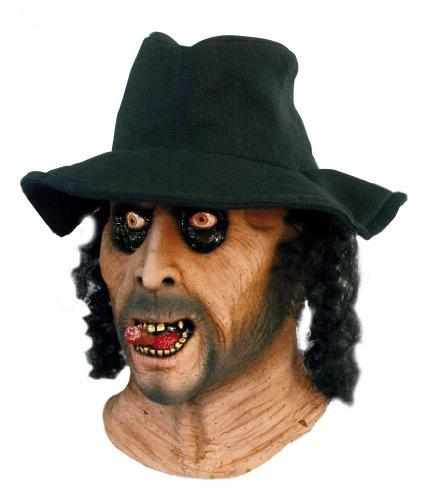 GHOULISH Halloween Kostüm - bestatter Maske - Gruselig böse Gesicht mit Hut und - Kostüme Ghoulish