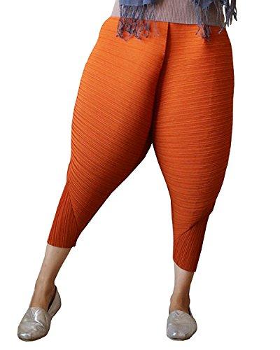 Longwu Frauen 2017 Mode Gebratenes Huhn Hosen Drumstick Cosplay Leggings Übergroßen Elastische Taille Pluderhosen Haremshose Orange-S (Fit Pant Modern Poly)