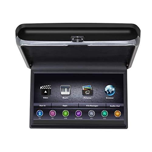 CZWXCD Auto-Schlag-unten Monitor HDMI 1080P TFT LCD Android 6.0 Dach-Berg-Monitor obenliegender 13.3-Zoll-Video-Player für Auto MP3 MP5 mit WiFi USB TF FM IR Bluetooth (Dvd Dach Hdmi Auto Player)