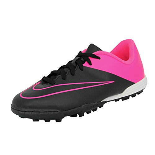 Nike JR MERCURIAL VORTEX II TF Chaussures de Football Fille Enfant Noir Rose