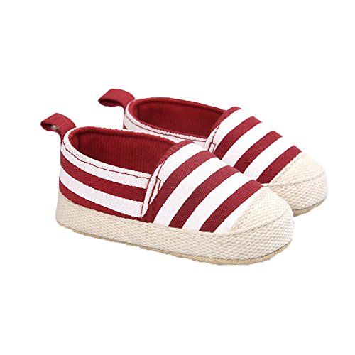Fire Frog  Baby Mary Jane Shoes, Baby Mädchen Lauflernschuhe Rot