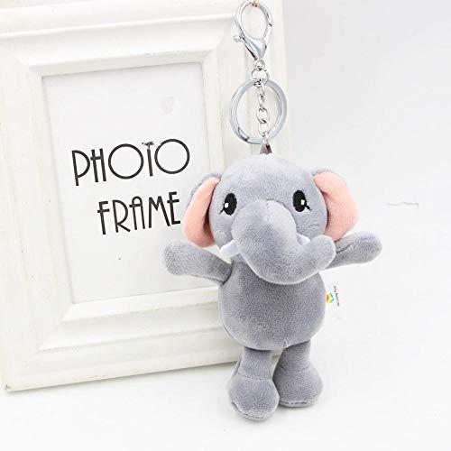 Shisky Llavero,Teléfono móvil Bolsa Colgante de Navidad Regalos Elefante Peluche Llavero niña