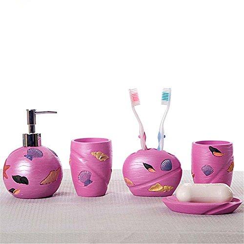 MIAORUI résine de haut grade artisanat cinq toilettes bureau / salle de bains / produits de salle de bain creative cadeau d'ornements,un