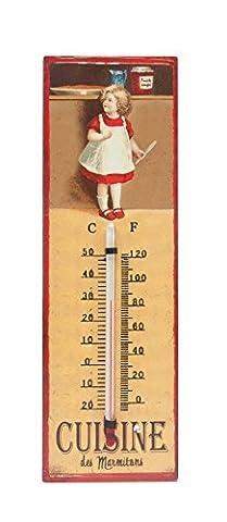 Vintage maison de campagne Thermomètre Thermomètre mural Marmiton Métal