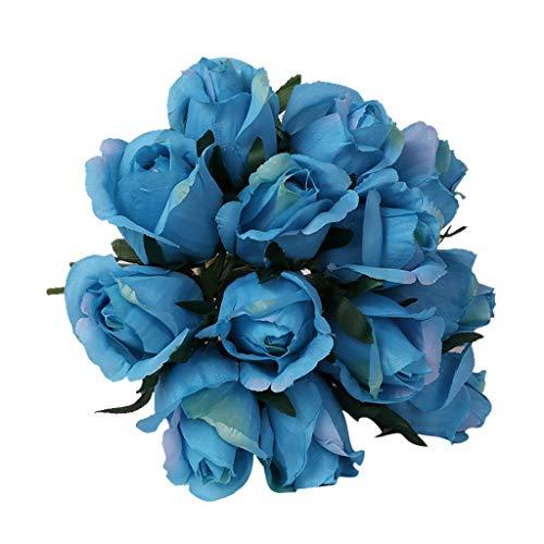 SuperSU Kunstblumen ►▷1 Stück Kunststoff Künstliche Blumenstrauß/Hochzeitsblumenstrauß/Gefälschte Blumen/Hochzeit Wohnzimmer Hotel DIY Dekoration/Blumenschmuck/kunstpflanzen