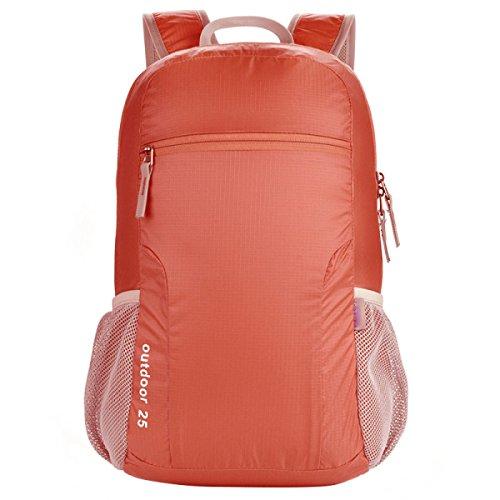 Zaino Da Viaggio Leggero Pieghevole Daypack Per Il Campeggio Escursioni In Bicicletta Sport All'aperto,Red Red