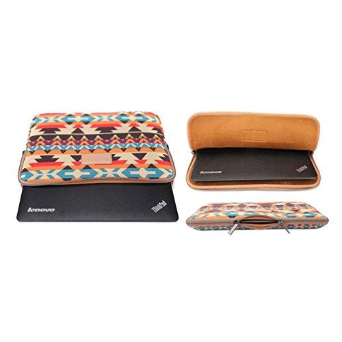 Baymate Unisex Streifen Laptop Tasche Für 11.6-15 Zoll Computer 15 Zoll Orange Geometrie