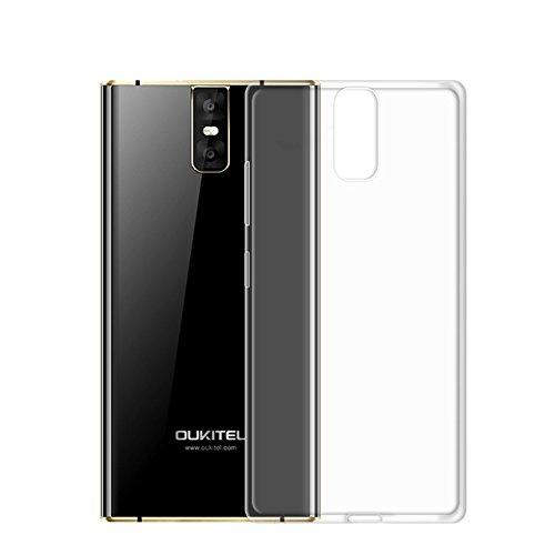 Easbuy Handy Hülle Soft Silikon Transparent Case Etui Tasche für Oukitel K3 Smartphone Cover Handytasche Handyhülle Schutzhülle (Transparent Clear)