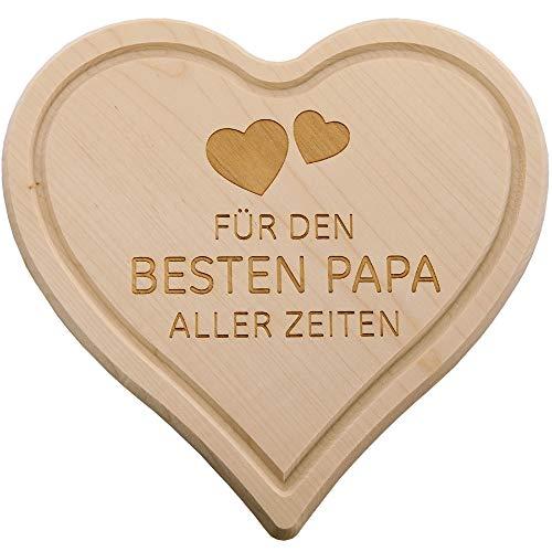 Mc trend bellissimo tagliere in legno a forma di cuore per la colazione mama - papa - oma - opa - festa della mamma besten papa