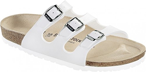 te Sandale Florida Weiß Gr. 35-43 054733 + 054731, Größe + Weite:39 Normal (Birkenstock Sandalen Frauen Größe 35)