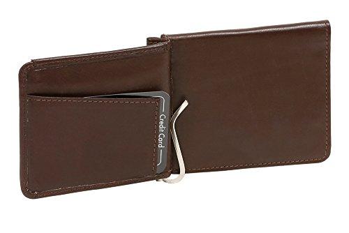 LEAS Dollar Clip Geldscheinklammer Geldklammer Money Clip Echt-Leder, braun Special Edition