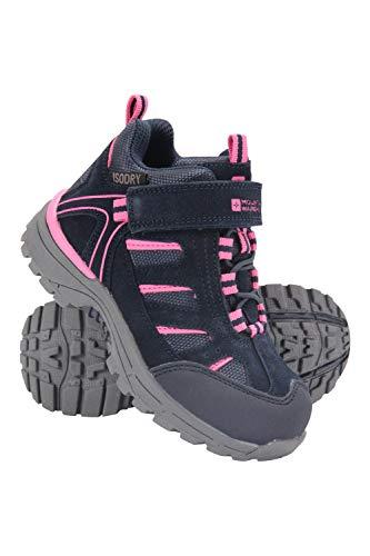 Mountain Warehouse Dirft Cargadores Menores de los Cabritos de la Deriva - Botas de Lluvia Impermeables, Zapatos para Caminar duraderos, Botas de Senderismo para niños Azul Marino 25.5