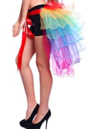Jupon mini Tutu Tulle Froufrou courte 8 couches cabaret cancan arc en ciel peon Taille unique