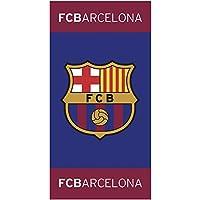CTI 044929 FC Barcelona Drap de Plage Coton Bleu 150 x 75 cm